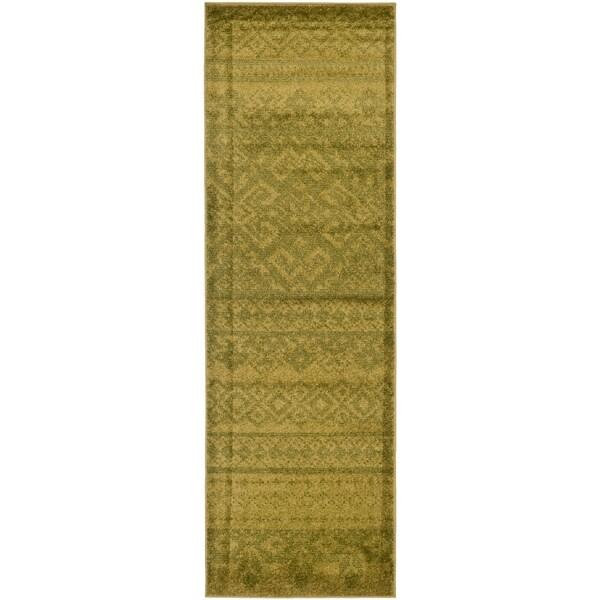Safavieh Adirondack Green/ Dark Green Rug (2'6 x 14')