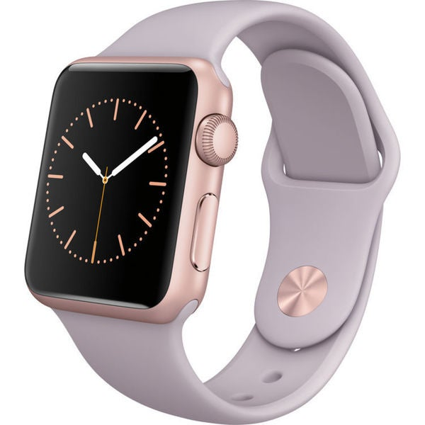 Apple Watch Sport Smartwatch (38mm, Rose Gold Aluminum, Lavender Band)