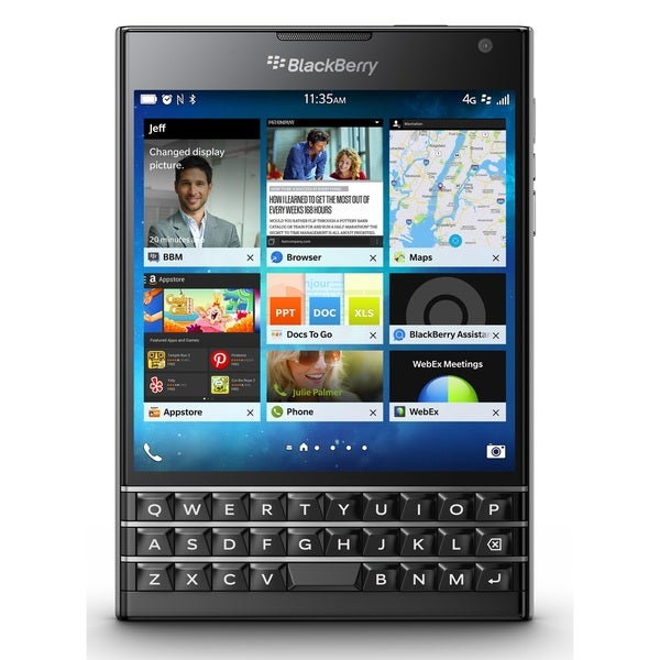 Blackberry Passport SQW100-3 32GB Unlocked GSM 4G LTE Cell Phone With 3-row keyboard - Black