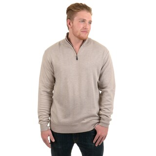 Vance Co. Men's Quarter Zip Solid Sweater
