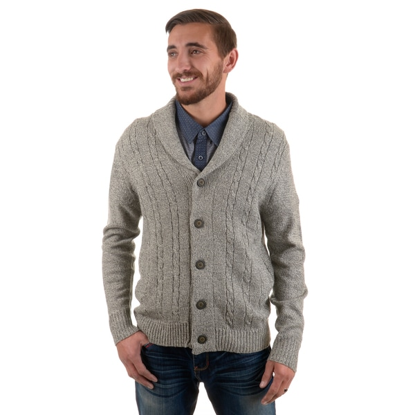 Vance Co. Men's Button-up Cable Knit Cardigan