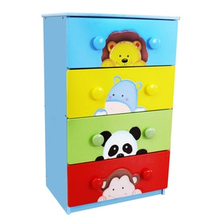 Fantasy Fields Sunny Safari 4-drawer Cabinet with 8 Handles