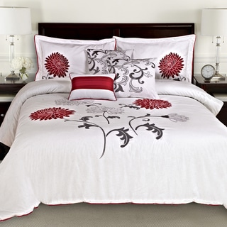Sandra Venditti Antonia Floral Cotton 6-piece Comforter Set