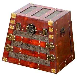 Antique Style Wooden Pyramid Trunk