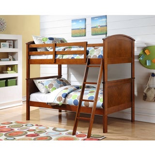 Twin over Twin Arch Panel Oak Finished Bunk Bed