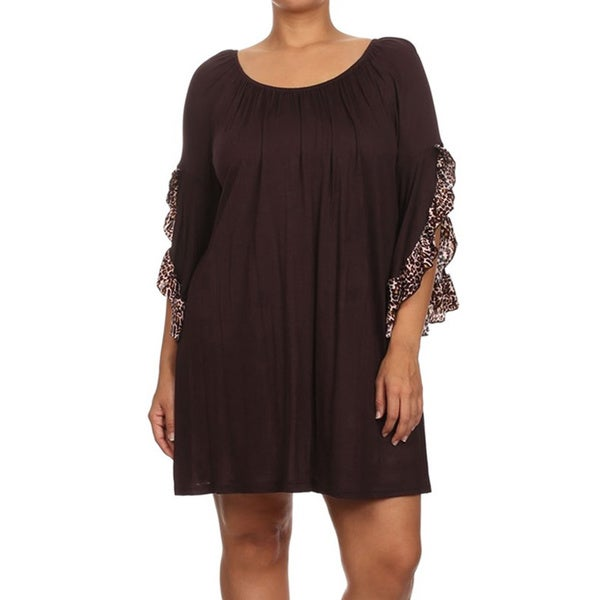 MOA Collection Women's Plus Size Flutter Sleeves Top