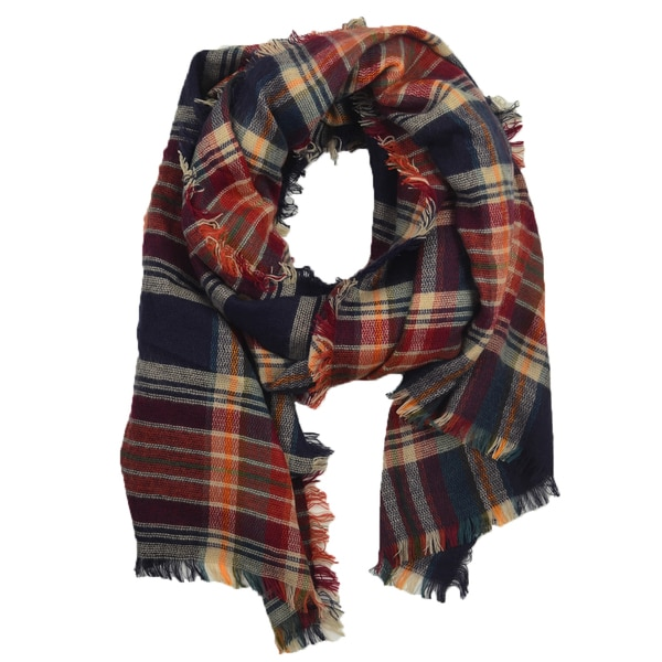 Autumn Plaid Blanket Scarf