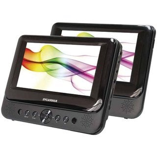 Sylvania SDVD8739 7-inch Premium Dual Screen Portable DVD Player