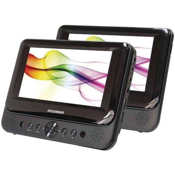 Sylvania Dual Screen Portable DVD Player, SDVD 87- Walmart