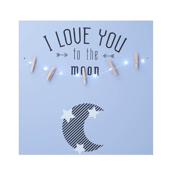Melannco 'I Love You To The Moon' LED Light Photo Clip Board