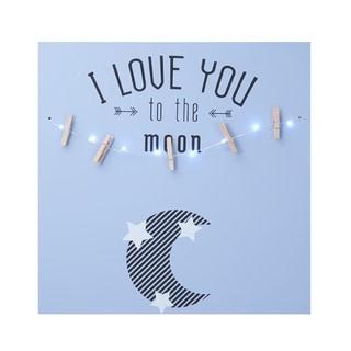 Melannco 'I Love You To The Moon' LED Light Photo Clip Board