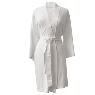 Rockwell 100-percent Organic Cotton White Lightweight Bath Robe
