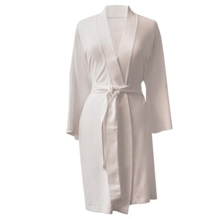 Rockwell 100-percent Organic Cotton Ivory Lighweight Bath Robe