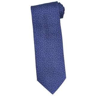 Versace 100-percent Italian Silk Blue 'Versace' Design 3-inch Wide Neck Tie