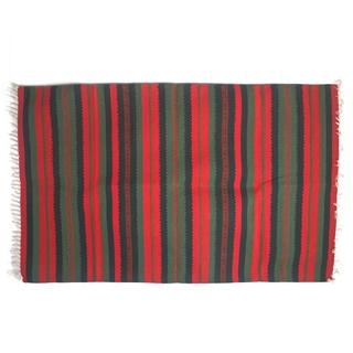 Indo Handmade Expressions Vintage Stripe Rug (3' x 5')