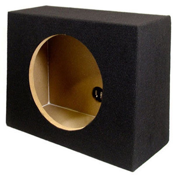 Single Car Truck Wedge Black Subwoofer Box Sealed Enclosure for 12-Inch Woofer TR12F
