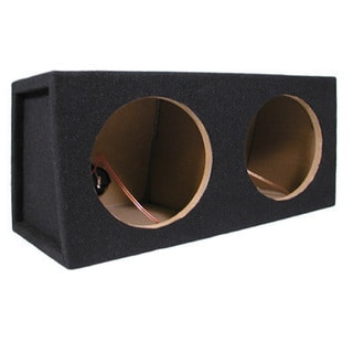 Car Black Subwoofer Box Sealed Automotive Enclosure for Two 8-Inch Woofers TR8D