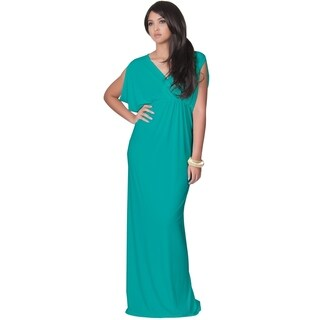 Koh Koh Women's Grecian Sleeveless Cocktail Maxi Dress