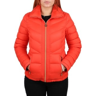 Michael MIichael Kors Women's Orange Down Packable Coat