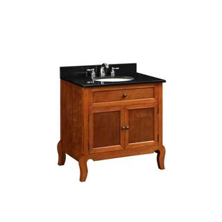 30-inch x 34.25-inch x 21-inch Vanity Cabinet Only in Light Mahogany