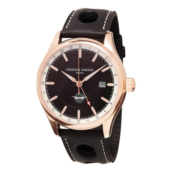 Frederique Constant FC-350CH5B4 'Healey' Brown Dial Brown Leather Strap Swiss Automatic Watch