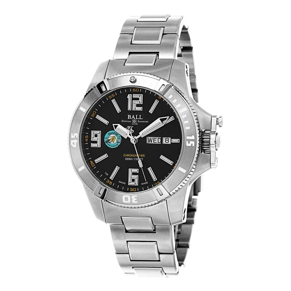 Ball Men's DM2036A-S4CAJBK 'Spacemaster' Black Dial Stainless Steel Binnie Limited Edition Swiss Automatic Watch