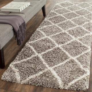 Safavieh Hudson Shag Grey/ Ivory Rug (2'3 x 8')