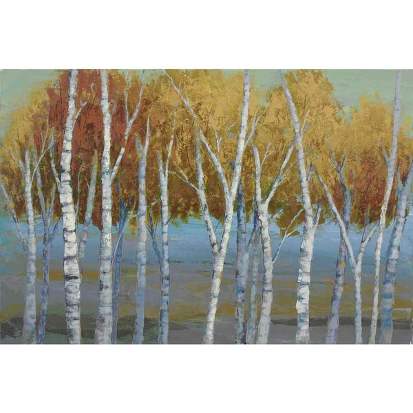 "Marmont Hill - ""Sunlit Saplings I"" by Jorgensen Painting Print on Canvas"