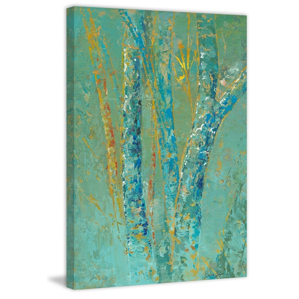 "Marmont Hill - ""Tree Mist One"" by Julie Joy Painting Print on Canvas"