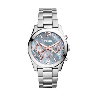 Fossil Women's ES3880 Perfect Boyfriend Multi-Function Mother Of Pearl Dial Stianless Steel Bracelet Watch