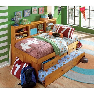 Twin Daybed with 3 Drawers and Twin Trundle