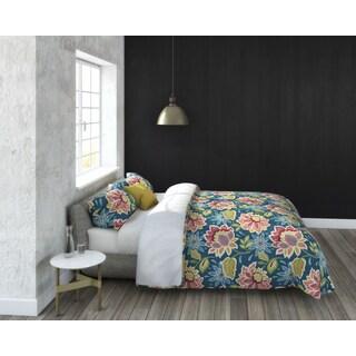 Callaway Floral 3-piece Cotton Duvet Set