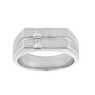 14K White Gold Mens 2/5ct TDW Diamond Ring (H-I, VS1-VS2)