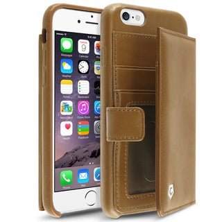 Cobble Pro Brown Genuine Leather Case Cover with Card Slot/ Photo Display For Apple iPhone 6/ 6s