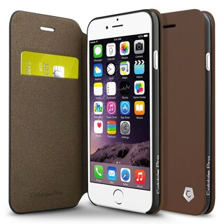 Cobble Pro Brown Leather Case Cover with Stand/ Wallet Flap Pouch For Apple iPhone 6/ 6s