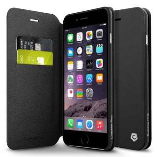 Cobble Pro Black Leather Case Cover with Stand/ Wallet Flap Pouch For Apple iPhone 6 Plus/ 6s Plus