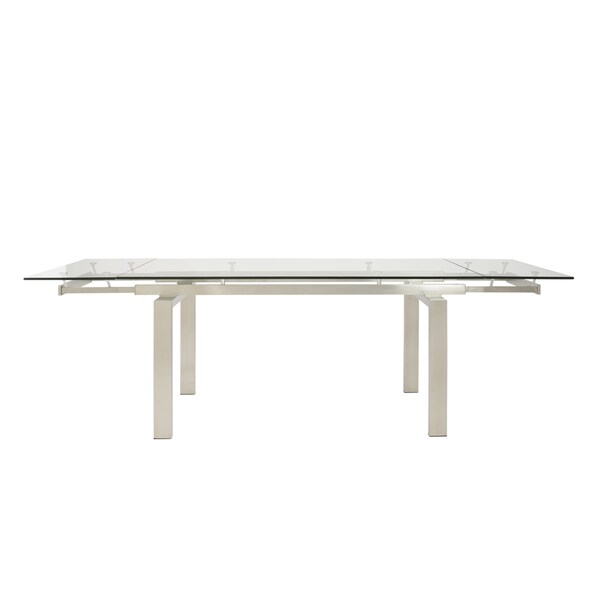 Theodore Brushed Stainless Steel Extension Table