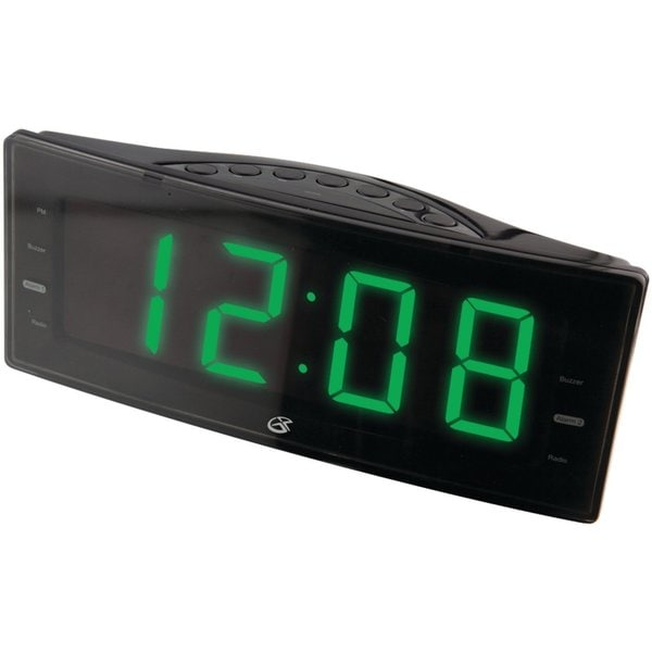 GPX C353 AM/FM LED Display Clock Radio with Dual Alarms (Refurbished)