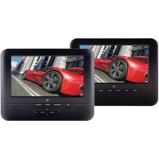 GPX PD7711NL Portable Dual Screen 7-inch DVD Player System (Refurbished)