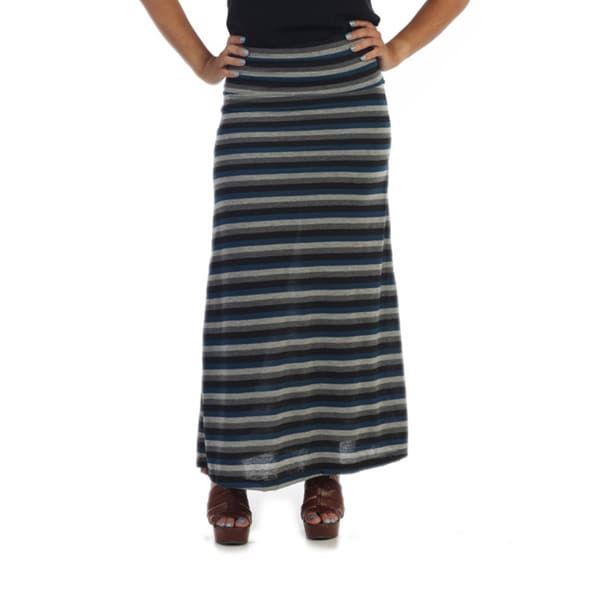 Ella Samani Women's Striped Maxi Skirt