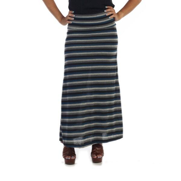 Ella Samani Women's Striped Maxi Skirt