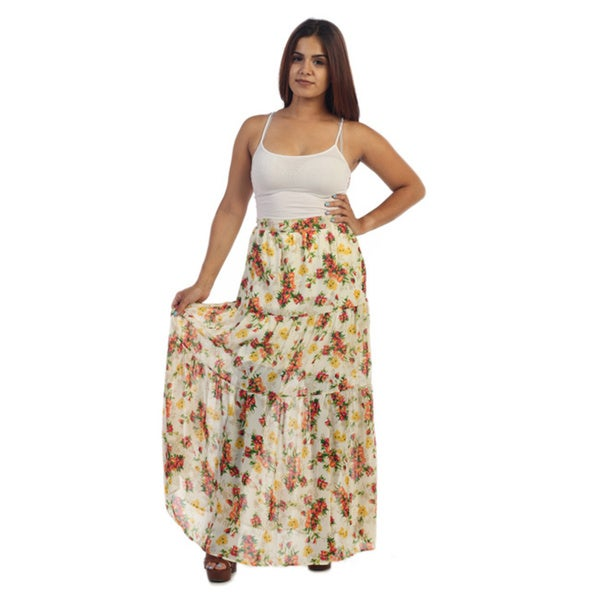 Ella Samani Women's Junior-Plus Floral Skirt 16944333