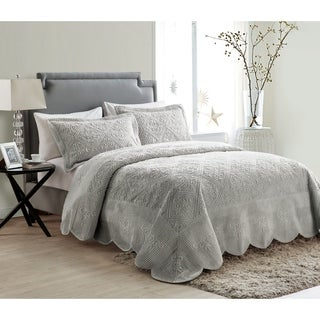 VCNY Westland Quilted Plush 3-piece Bedspread Set