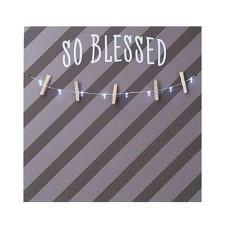 Melannco LED Light 'So Blessed' Photo Clip Board