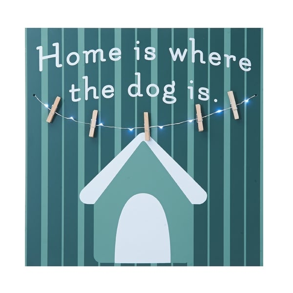Melannco LED Light 'Home Is Where The Dog Is' Photo Clip Board