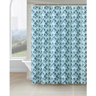 VCNY Watercolor Diamond PEVA Shower Curtain