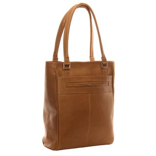 Piel Leather Vertical Laptop Tote