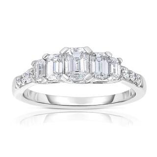 Eloquence 14k White Gold 1 1/4ct TDW Diamond Engagement Ring (H-I, VS1-VS2)