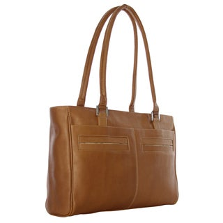 Piel Leather Women's Laptop Tote with Pockets