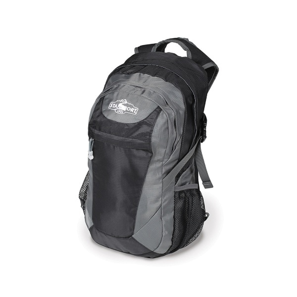 Stansport Aurora Black/ Grey Nylon Day Pack